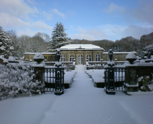 Snow on the Orangery